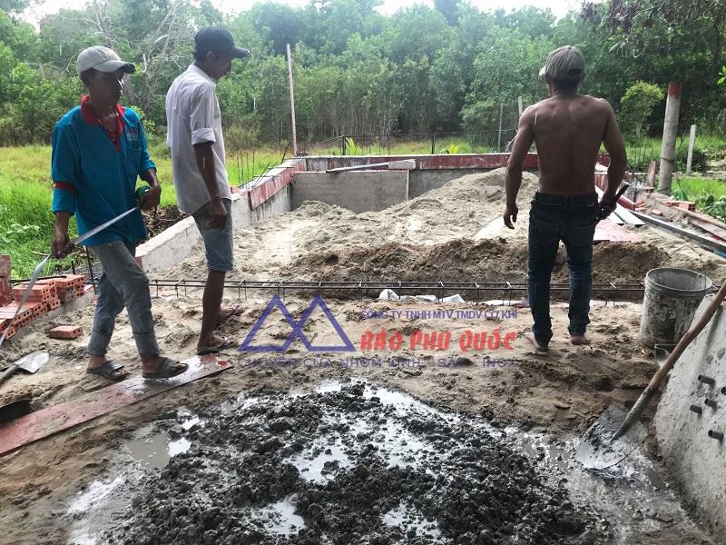 Quy trình xây dựng homestay Phú Quốc - Đào móng