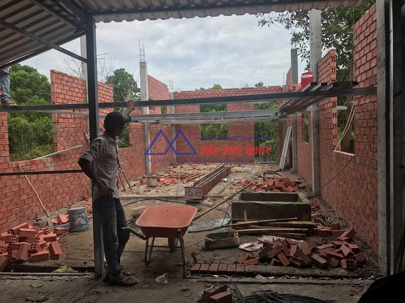 Quy trình xây dựng homestay Phú Quốc - xây dựng thô